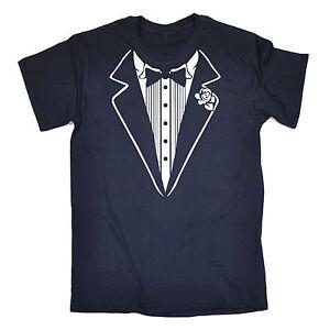 Smoking-Blanc-T-shirt-homme-tee-shirt-anniversaire-Costume-Robe-Fantaisie-idees-Drole-Cadeau