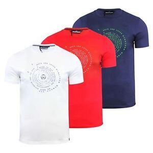 Hommes-T-Shirt-Duck-amp-Cover-Quoins-coton-graphique-a-encolure-ras-du-cou-a-manches-courtes-Tee