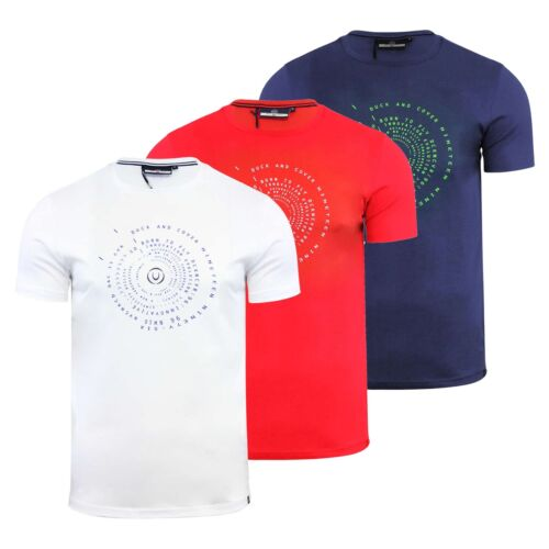 Mens T Shirt Duck /& Cover Quoins Cotton Graphic Crew Neck Short Sleeve Tee