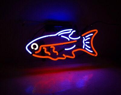 "14/""x8/""Tropical Fish Neon Sign Light Aquarium Wall Decor Visual Art Customized"