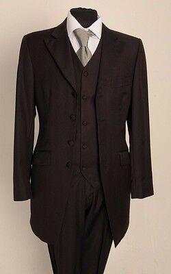 Bescheiden Mj-146 Mens/boys 2pc Brown Pinstripe Prince Edward Wedding Formal Suit 100%wool Aromatischer Charakter Und Angenehmer Geschmack