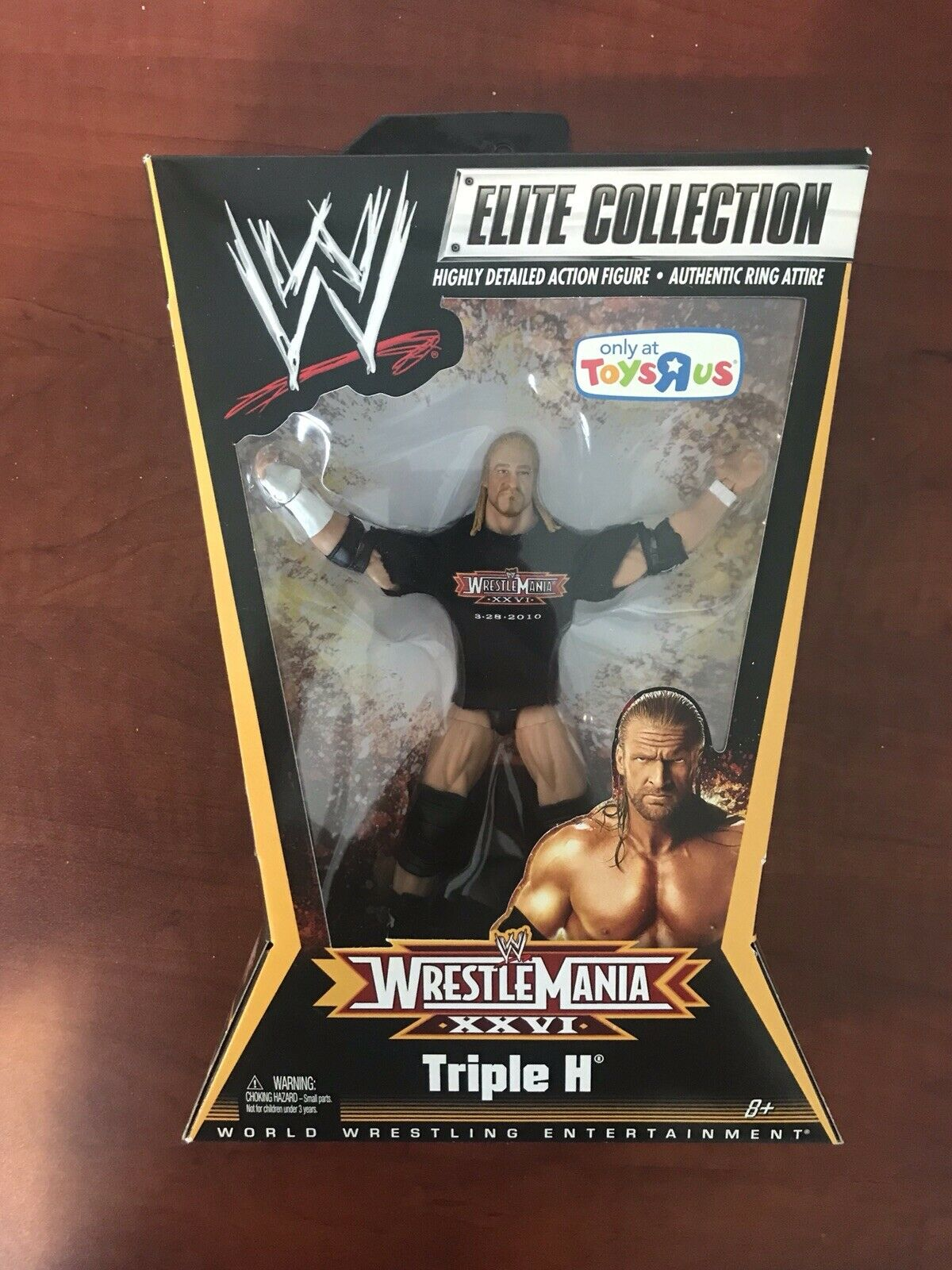 Mattel WWE Elite Collection Triple H Figura WrestleMania XXVI 26 26 Tru MIB difícil de encontrar Hhh  ventas calientes