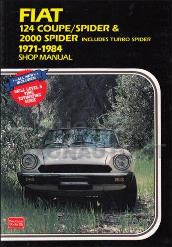 1971-1984 Fiat 124 E 2000 Negozio Manuale Coupe Ragno Clymer Riparazione Service