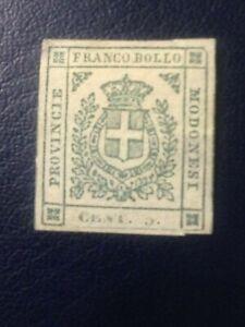 FRANCOBOLLO-GOVERNO-PROVVISORIO-5-CENT-VERDE-PROVINCE-MODENESE-1859-NUOVO
