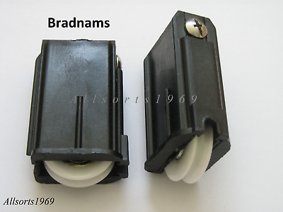 Sliding glass door rollers wheels in carriage BRADNAMS SD2  1 x Pair