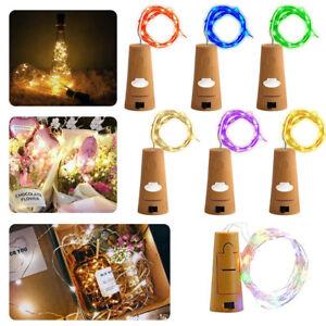 LED-Flaschen-Licht-20-LEDs-2M-Kupferdraht-Lichterkette-Weinflasche-Lichter-kork
