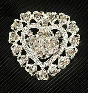 SILVER TONE  HEART SHAPE FILIGREE DIAMANTE RHINESTONE CRYSTAL WEDDING BROOCH - <span itemprop='availableAtOrFrom'>NOTTINGHAM, Nottinghamshire, United Kingdom</span> - If you have any problems with your purchase please contact me before leaving feedback. Damaged items will always be replaced or money refunded however please make cont - <span itemprop='availableAtOrFrom'>NOTTINGHAM, Nottinghamshire, United Kingdom</span>