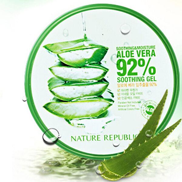 Nature Republic Soothing Gel Moisture Aloe Vera 92% 300ML / Korea cosmetic