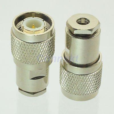 1pce TNC male plug clamp RG316 RG174 LMR100 RF connector