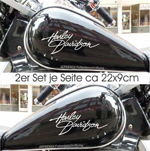 2-Aufkleber-Harley-Tankaufkleber-2er-Set-22cm-HD2-Tank-Aufkleber-Farbauswahl