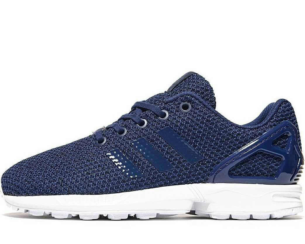 Adidas Originals Zx Flux ) (Größen UK 4/4.5/ 5/5.5 ) Flux Blau Strick Ober Neu 557d2b
