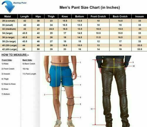 MEN/'S COWHIDE LEATHER JEANS PADDED STRIPES DOUBLE ZIP PANT TROUSER BLUF BREECHES