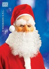 Father Christmas Mask With With Beard Eyebrows And Red Santa Hat Fancy Dress