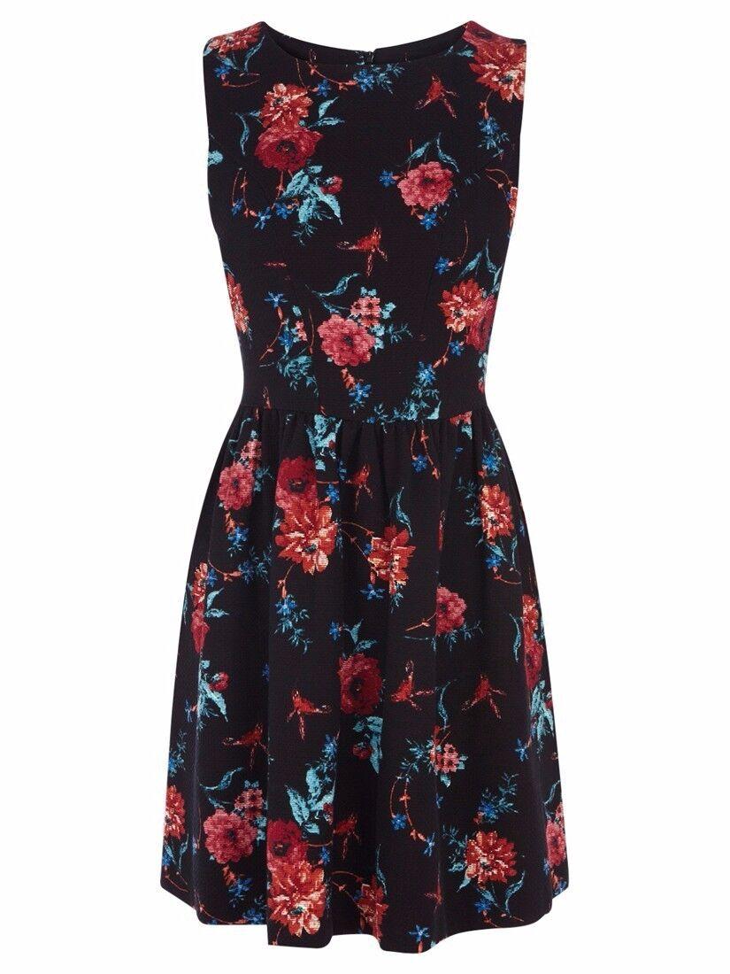 Oasis Multi Floral Tapestry Print Dress 16