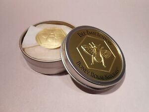 Honey-House-Naturals-Solid-Hand-amp-Body-Lotion-Small-Scented-Bee-Bar-in-Metal-Tin
