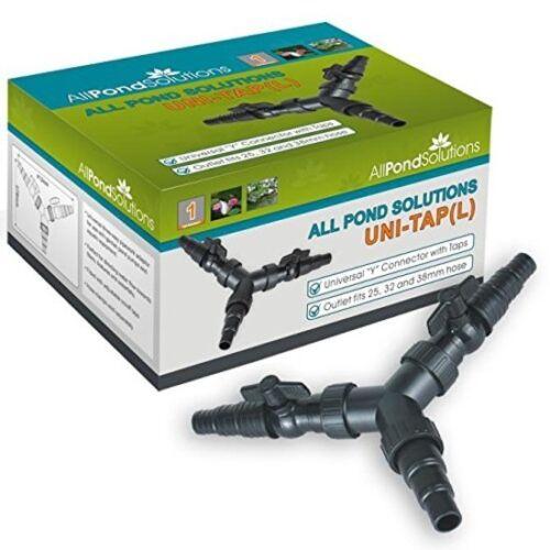 All Pond Solutions Uni Robinet 3 Voies Distributeur étang TUYAU TUYAUTERIE Adaptateur Connect