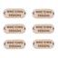 cualquier texto una imagen o su logotipo Madera de Abedul oblongo etiquetas 20mm X 16mm de madera añadir