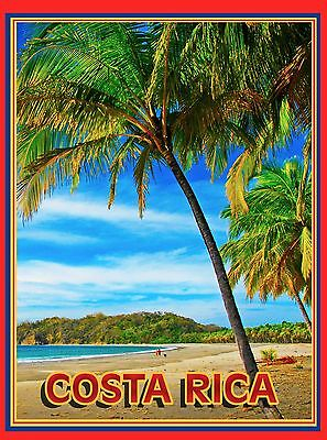 Welcome to the Caribbean Sea Island Beach America Travel Advertisement Poster