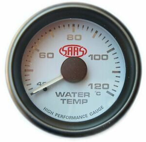 SAAS 52mm White Face Water Temperature Gauge