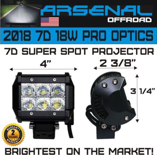 4pcs 4 INCH 18W 7D Super Spot Pro Diamond Series CREE LED SUV ATV UTV JEEP TRUCK