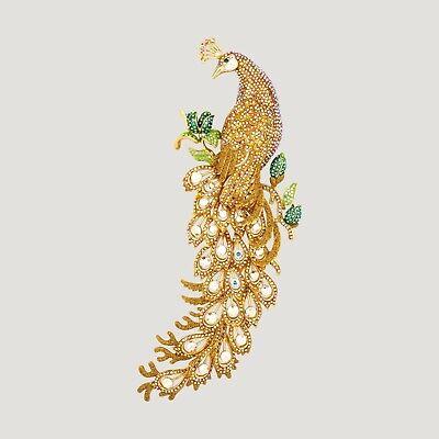 Butler Y Wilson Cristal Esmalte Verde Dragón Chino Broche Nuevo