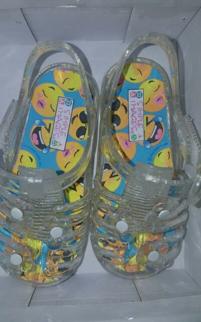03c3e83b8f081 SIMPLE IMAGES CLEAR Jelly Sandals Toddler Girls Shoes Size 6 New in Box