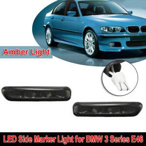 2pcs-Voiture-LED-Cote-Marqueur-Clignotant-pour-BMW-E46-3-Serie-2-4-Dr-Coupe