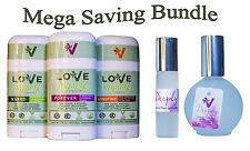 Bundle of 3 Deodorants 2 Perfume Love Myself Organics Forever Longtime & Naked