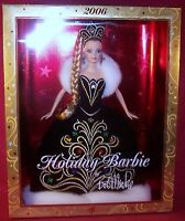 Mattel Holiday Barbie Doll By Bob Mackie 2006 Black & White Gown