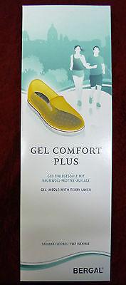 BERGAL Gel Comfort Plus Geleinlage polsternde Einlegesohle Schuheinlage Gr.36-46
