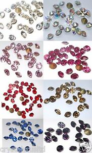 SS16-4MM-QUALITY-CHATON-DIAMANTE-GLASS-FAUX-CRYSTAL-BEAD-GEMS-JEWELRY-CRAFT