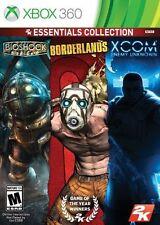 2K Essentials Collection (Bioshock, Borderlands, Xcom Enemy Unkown) Xbox 360 New