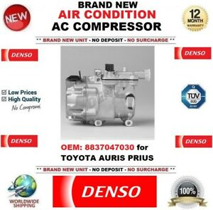Details about DENSO NEW AIR CONDITIONING AC COMPRESSOR OEM: 8837047030 for  TOYOTA AURIS PRIUS