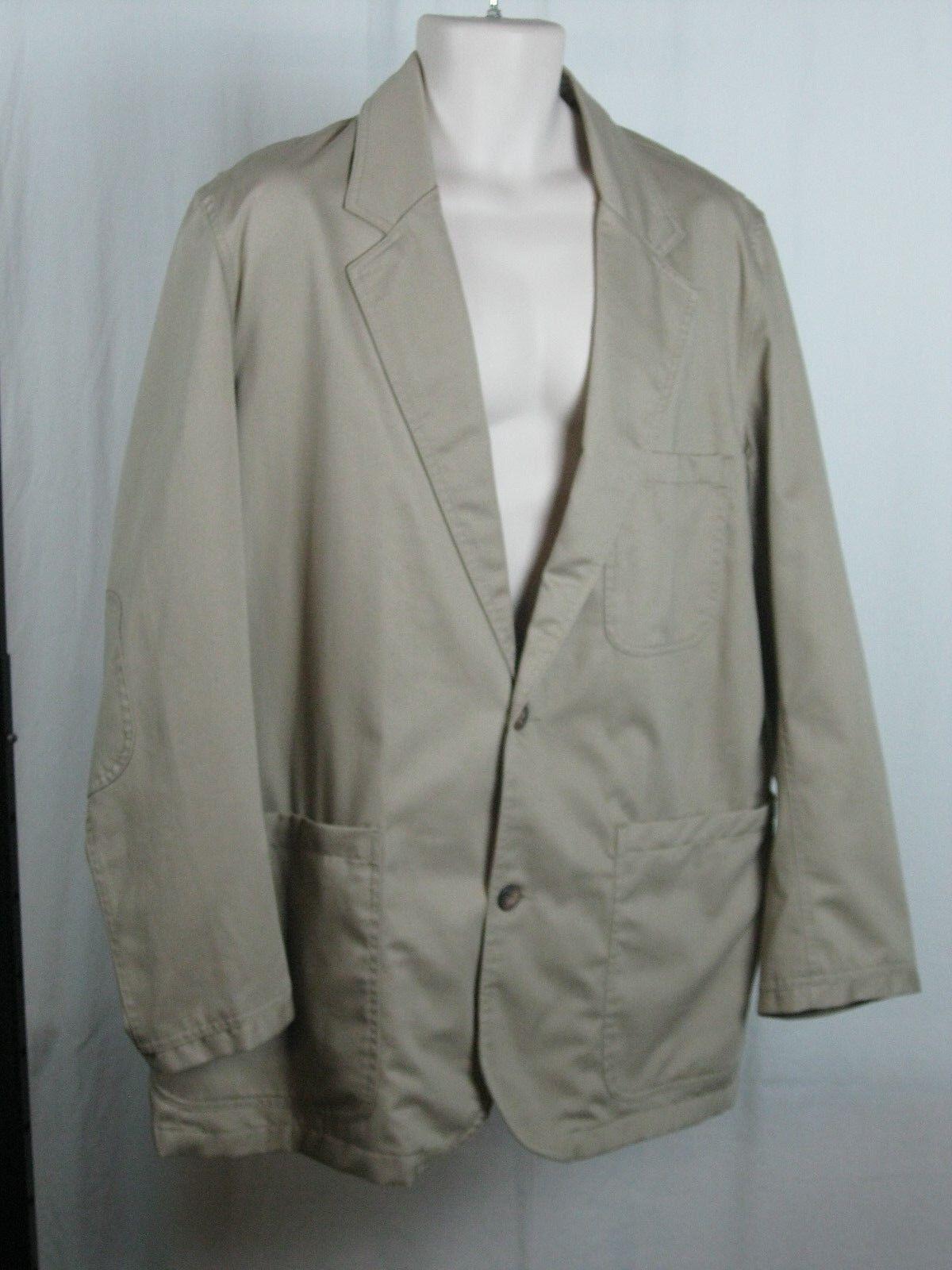 Duluth Trading Company Men's Presentation Khaki Blazer Sports Coat L Tall NWT