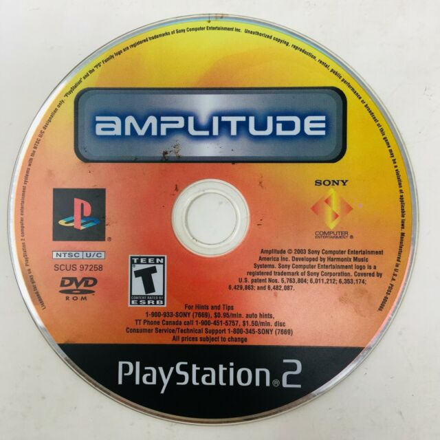 Amplitude PS2 Sony PlayStation 2  - DISC ONLY Tested Works Fast Shipping