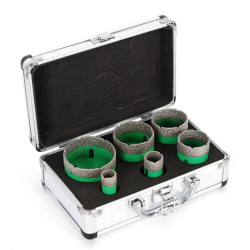 100/% QUALITY!6 PCS Diamant Hole Saw Lochsäge Set M14 Drill bits Marmor