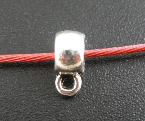 100 Antiksilber Glatt Element Perlen Beads 9x4mm