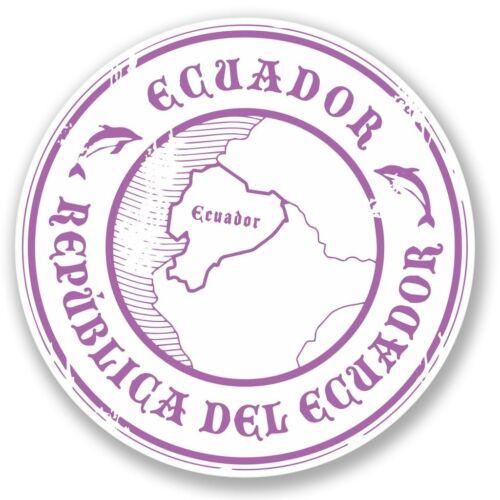 2 X Ecuador Pegatina de vinilo Laptop Equipaje de Viaje #4306