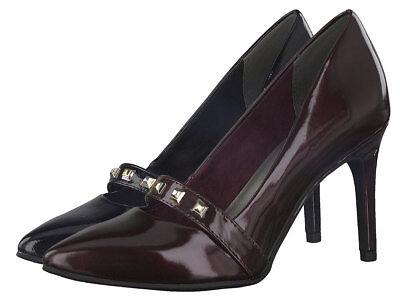Tamaris Lack Pumps 1 24440 39 Nieten Riemchen High Heels Stiletto | eBay