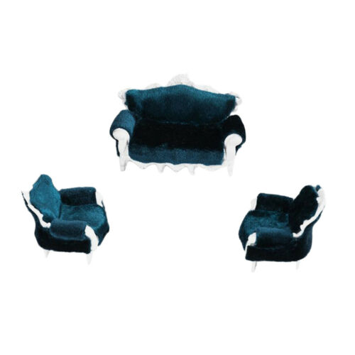 Vintage Style DIY 1//25 Dollhouse Couch Sofa Chair Miniature Furniture Toy #2