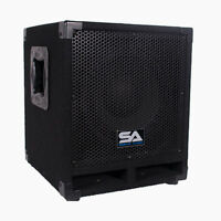 Powered 10 Pro Audio Subwoofer Cabinet Pa Dj Pro Audio Band Speaker 500w on sale