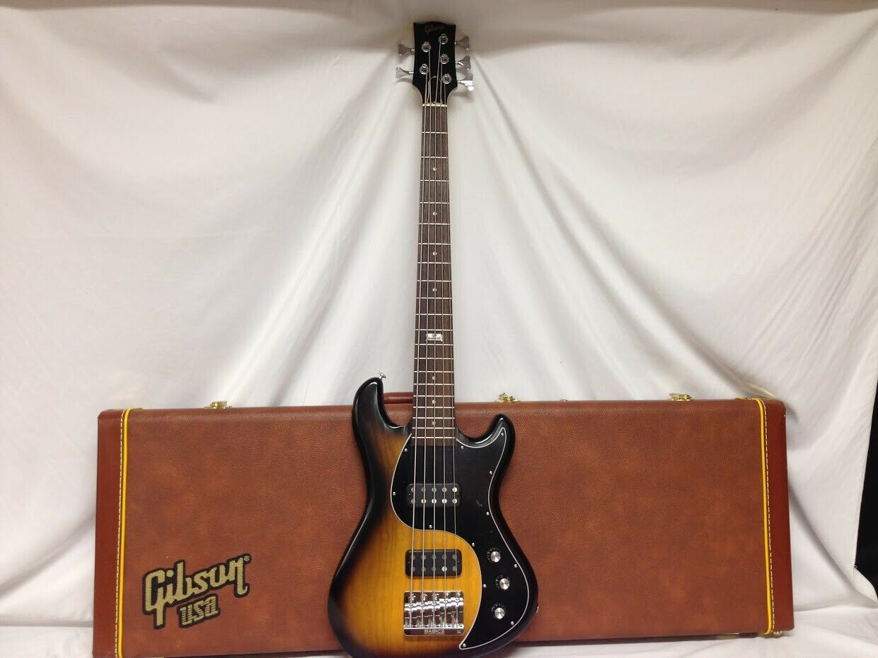 Gibson EB5 120th Anniversary Edition 5 String Bass Gitarre MIT CASE