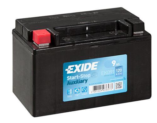 EK091 4 Year Warranty Exide Auxiliary Battery 9AH 120CCA