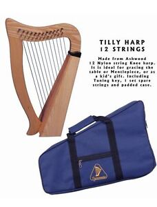12-Strings-Celtic-Harp-Ashwood-High-Quality-Musical-Instrument-NEW