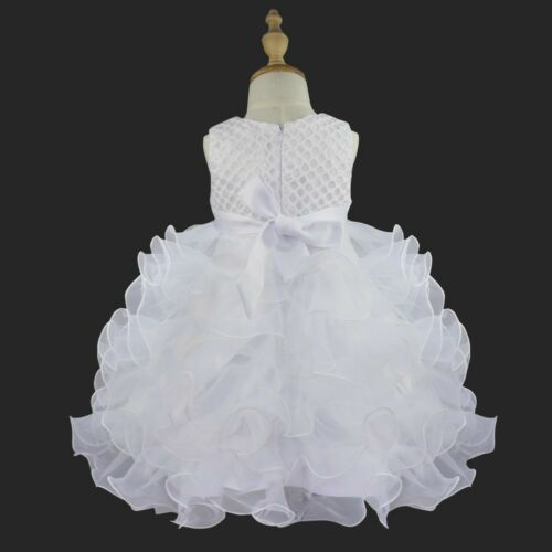 Baby Girls Flower Tutu Dress Wedding Pageant Princess Communion Party Dresses