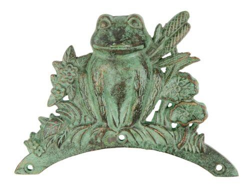Hose Holder Cast Iron Frog Mr Gecko Decorative Hose Reel Hanger Holder Verdigris