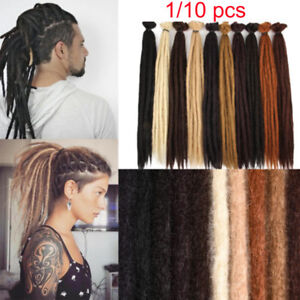 1 Pc 20 Handmade Dreadlocks Extensions Synthetic Crochet Dreads