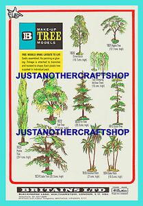 Britains-Make-Up-Tree-A3-Size-Poster-Shop-Display-Sign-Advert-Leaflet-from-1971