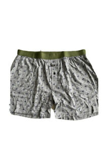 Nth Trim Fit Boxer Sz XL Micro Modal Moisture Wicking Heather Reindeer Boxers