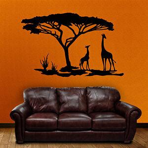 Wandtattoo-Afrika-Savanne-Giraffen-Tiere-Wueste-Wandaufkleber-Wand-Tattoo-2042